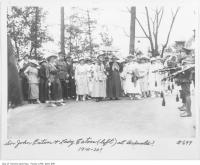 Historic photo from 1920 - Sir John Eaton and Lady Eaton (left) and group at Ardwold Estate in Casa Loma