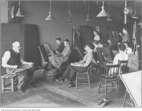 Historic photo from Sunday, April 9, 1911 - Life drawing class, Ontario School of Art, The Grange in Art Gallery of Ontario