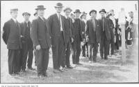 Historic photo from 1914 - Recruits applying at Long Branch Camp for WWI in Long Branch