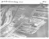 Historic photo from 1930 - Aerial view of York Street and Queens Quay in Harbourfront