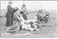 Historic photo from 1915 - Women learn to shoot - Long Branch camp - now Marie Curtis Park in Long Branch