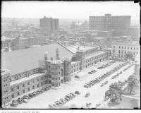 Historic photo from 1930 - Aerial view of the University Avenue Armouries, looking south-east in Downtown