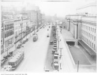 Historic photo from 1928 - View of Front Street from Walker House Hotel (Queens Hotel and Union Station) in Financial District