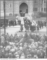 Historic photo from 1922 - Sir John Craig Eatons funeral at Timothy Eaton Memorial Church in Forest Hill