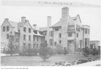 Historic photo from 1911 - Side view of Benvenuto showing brick construction in South Hill