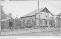 Historic photo from 1920 - Radial line workshop, Yonge Street, near old Belt Line in Mount Pleasant Cemetery