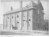 Historic photo from 1916 - North Toronto Town Hall, then the Public library, Yonge Street and Montgomery Avenue in North Toronto
