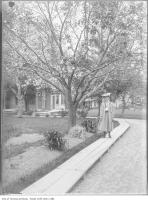 Historic photo from 1907 - Toronto Street Railway president, R.J. Fleming home and daughter in Forest Hill