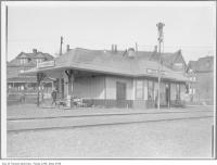 Historic photo from 1910 - South Parkdale Station in Parkdale