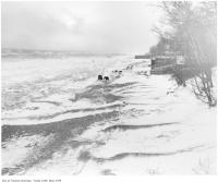 Historic photo from 1912 - Winter storm and ice at Kew Beach in The Beaches