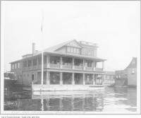 Historic photo from 1900 - Royal Canadian Yacht Club (RCYC) clubhouse, foot of Simcoe Street in Harbourfront