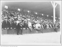 Historic photo from Friday, July 1, 1910 - Crowd watching lacrosse game, Scarborough Beach Park in The Beaches