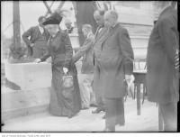 Historic photo from 1907 - Mrs. Timothy Eaton and Sir John Eaton at Eaton Memorial Church cornerstone laying in Forest Hill
