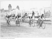 Historic photo from Thursday, September 2, 1926 - Bill Elder winning the bicycle race in CNE