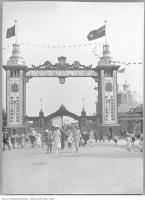 Historic photo from 1922 - Sunday opening, CNE Dufferin Gates in CNE