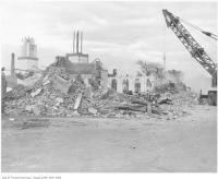 Historic photo from 1958 - Demolition of the 1910 CNE Dufferin Gates in CNE