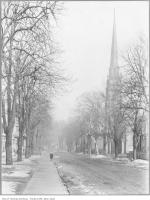 Historic photo from 1909 - John Street looking north towards The Grange in Art Gallery of Ontario