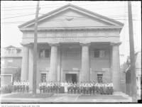 Historic photo from 1908 - Margaret Eaton School of Literature and Expression built 1905 by W.R. Mead at 38 1/2 North St in Yorkville