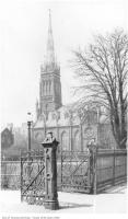 Historic photo from 1920 - Looking from St. Michaels Cathedral grounds towards Metropolitan Church in Garden District