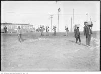 Historic photo from 1907 - Carrying dynamite to blow up Riverdale Park, Broadview Avenue in Riverdale park