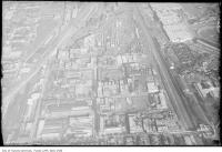 Historic photo from 1920 - Aerial view of Liberty Village with Massey-Harris plant, Provincial Lunatic Asylum, Mercer Reformatory and the former Central Prison in Liberty Village
