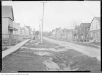 Historic photo from 1907 - Wooden sidewalks, dirt road - Alcina Avenue at Wychwood in Hillcrest-Bracondale