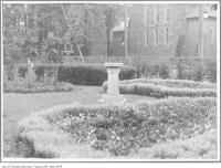 Historic photo from 1912 - The Grange gardens. McCaul on the right? in Art Gallery of Ontario