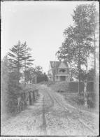 Historic photo from 1910 - Ornate house on a hill on Riverside Drive, east of Humber in Swansea