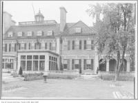 Historic photo from 1912 - Looking up to the Glass cupola from the grounds of Ardwold in Casa Loma