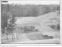 Historic photo from 1911 - Foundations and bridge for Government House (Chorley Park) in Don Valley Brickworks