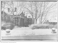 "Historic photo from 1912 - Sir Joseph Flavelle's residence ""Holwood"" in the snow in Queens Park"