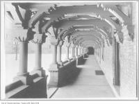 Historic photo from 1911 - Carved wooden cloister at University College in University of Toronto (U of T)