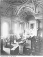 Historic photo from 1910 - Looking down on the Osgoode Hall library from the second level in City Hall