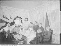 Historic photo from Thursday, December 25, 1913 - James family having Christmas dinner at 39 Huron in Grange Park