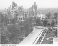 Historic photo from 1920 - View of Casa Loma from tower of stables in Casa Loma
