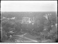 Historic photo from 1915 - Looking northwest from Casa Loma tower across Spadina House and Ardwold in Casa Loma