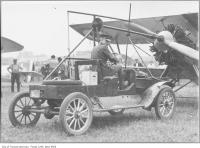 Historic photo from 1929 - Demonstrating a Siskin plane starter connected to the prop in Leaside