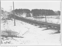 Historic photo from 1911 - St. Clair Avenue West civic railway construction, looking north-west in Casa Loma