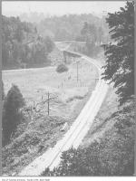 Historic photo from 1908 - CNR tracks crossing the east Don River at Donlands Avenue in Don Mills
