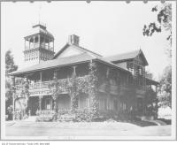 Historic photo from 1881 - First RCYC clubhouse, Centre Island in Toronto Island