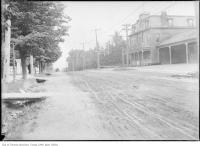 Historic photo from 1908 - Oulcotts Hotel on Yonge Street, north of Eglinton, looking south in North Toronto