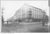 Historic photo from 1910 - Palmer House Hotel, northwest corner of King and York streets in Financial District