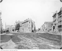 Historic photo from 1873 - Coffin Block, Front and Wellington streets - future site of the Flatiron Building in St. Lawrence