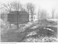 Historic photo from 1907 - Flooding in Alexandra Park, Bathurst and Dundas streets in Alexandra Park