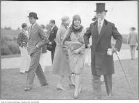Historic photo from 1926 - E.R. Wood (right) with daughter and her husband Murray Fleming (unknown location) in Bridle Path