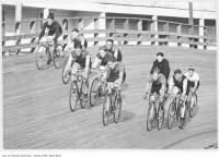 Historic photo from 1926 - Bicycle race at Velodrome, Scarborough Beach Park in The Beaches