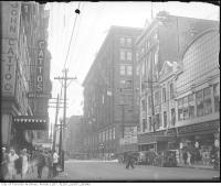 Historic photo from 1930 - Cattos Dry Goods store - looking south-west on Yonge Street at  Shuter Street.  in Downtown