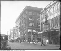 Historic photo from 1930 - Cattos dry goods on the east side of Yonge Street, looking north east, from south of Shuter Street in Downtown