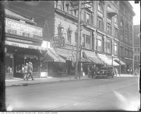 Historic photo from 1930 - 229-235 Yonge Street (east side) near  Shuter Street - La Vogue Hat Shoppe and one Minute Lunch in Downtown