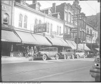 Historic photo from 1930 - East side of Yonge Street south of Dundas - Tip Top Tailors in Downtown